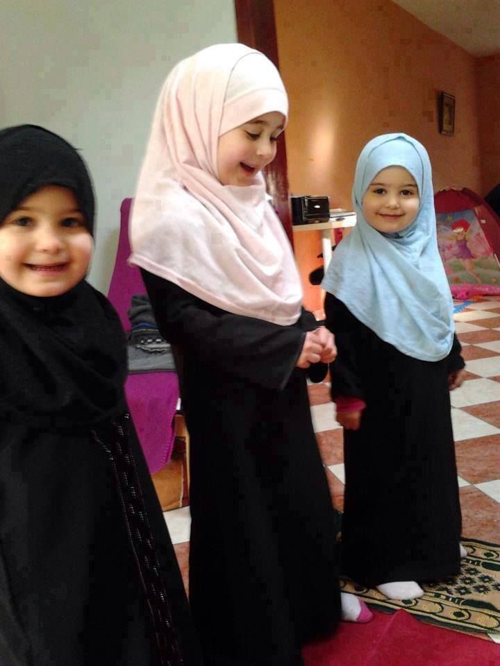 Wonderful smiles of beautiful Girls of style and fashion setting the trend for the future generation Hijabers.