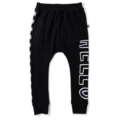 Track suit pants Black grey