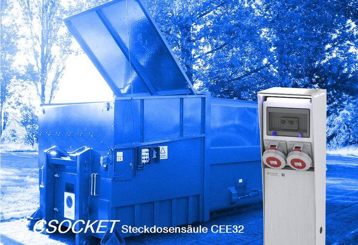 Steckdosnesäule CEE32 400V, Energiesäule IP67, Stromsäule, Steckdosensäulen für Industrie und Gemeinden