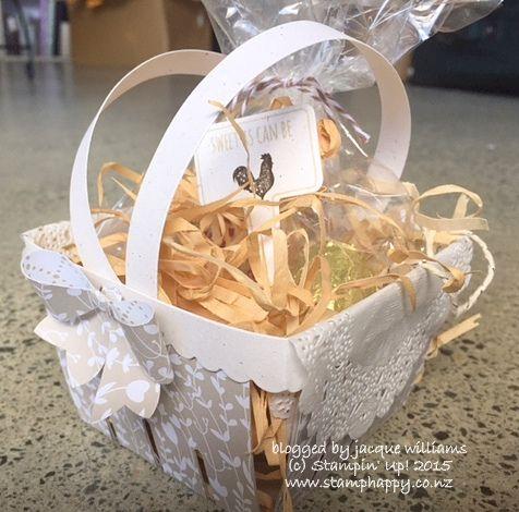 stampin up berry basket handles variation something borrowed
