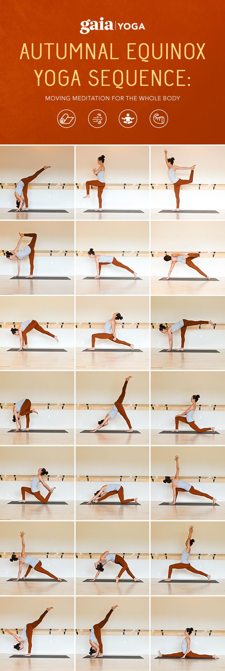 Autumnal Equinox Yoga Sequence: Moving Meditation for the Whole Body                                                                                                                                                                                 More