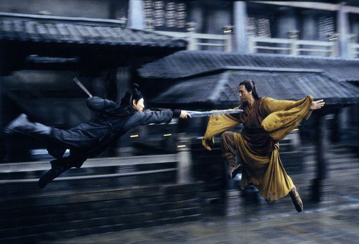 Hero with Jet Li.  Beautiful movie with stunning cinematography