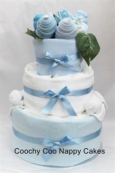 Three tier nappy cake baby gift