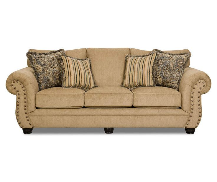 Best Simmons Morgan Antique Memory Foam Sofa Memory Foam Sofa 400 x 300