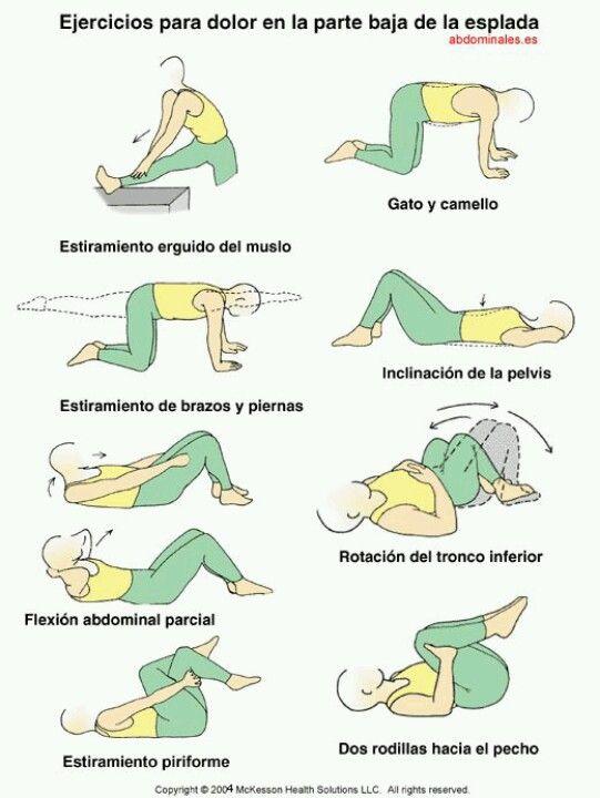 Ejercicios para la aliviar el dolor de espalda baja
