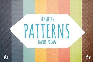 Retro hand-draw patterns (ai + ps)