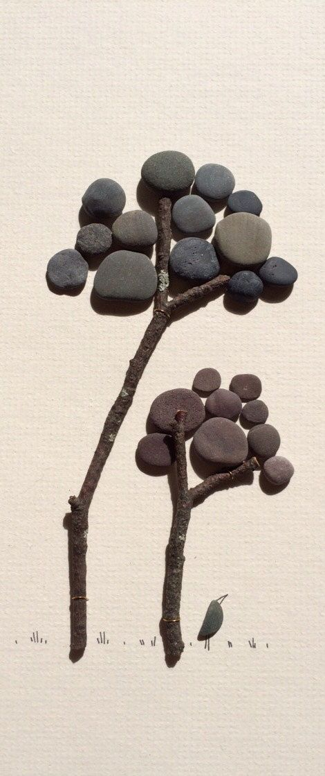 Pebble art trees by sharon nowlan por PebbleArt en Etsy