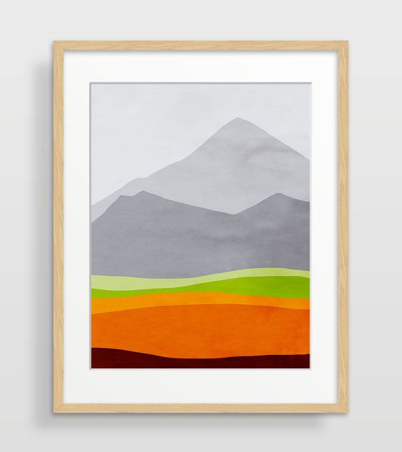 Mountain Art Print Christmas Gift for Him Gift for by evesand