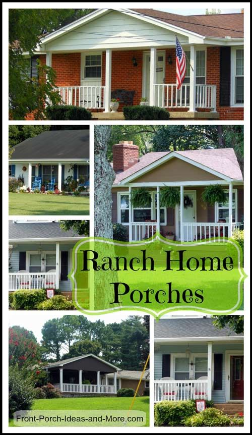 Front Porch Ideas To Add More Aesthetic Appeal To Your Home: 120 Best Images About Ranch Home Porches On Pinterest