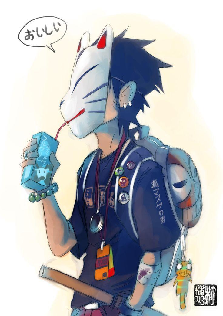 Fox Mask Man  by *takeru-san