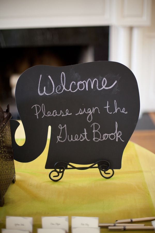 Elephant Chalkboard Signs