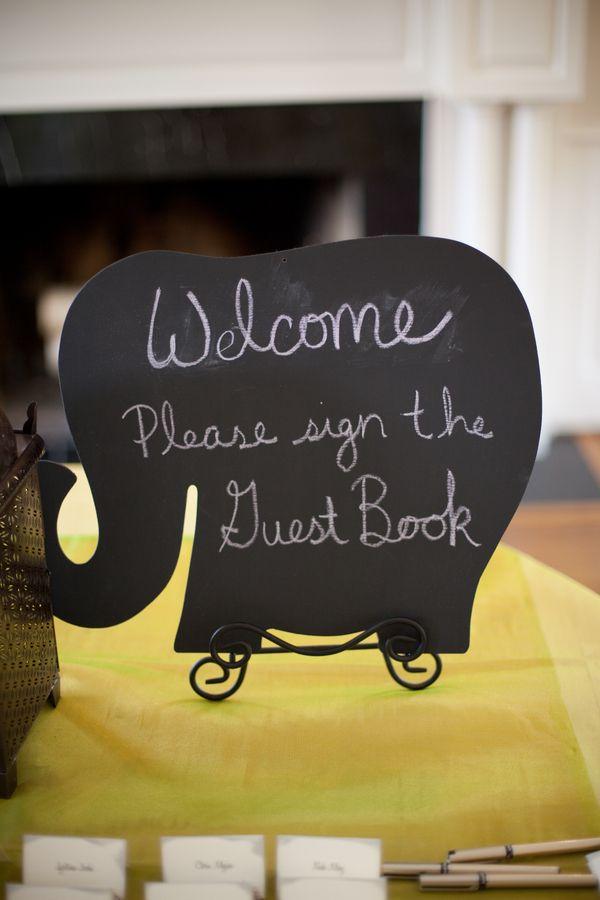 Elephant Chalkboard Signs