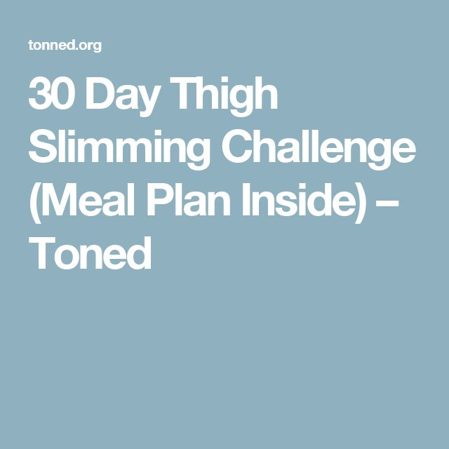 30 Day Thigh Slimming Challenge (Meal Plan Inside) – Toned
