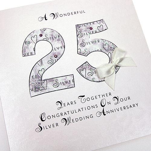 8 best mom dad 25th anniversary research images on pinterest 25 handmade silver anniversary card 25 years anniversary greeting card httpthehandcraftedcardcompany m4hsunfo