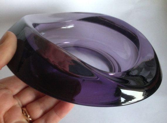 Modernist retro vintage  Art Glass Bowl by by 20thCenturyStuff