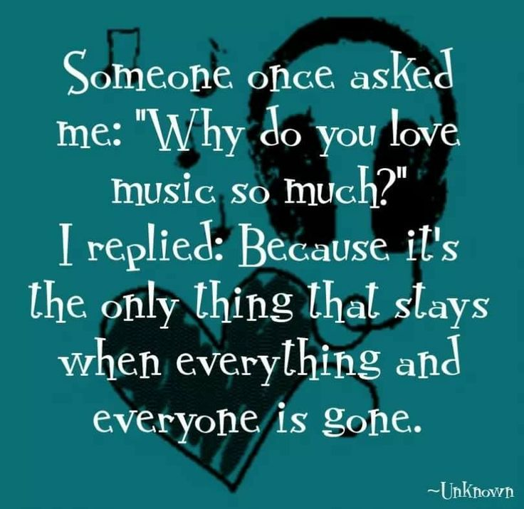 Music always there..