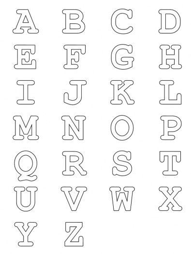 Printable letters to use with my crafts