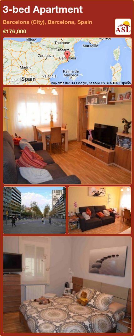 3-bed Apartment in Barcelona (City), Barcelona, Spain ►€176,000 #PropertyForSaleInSpain