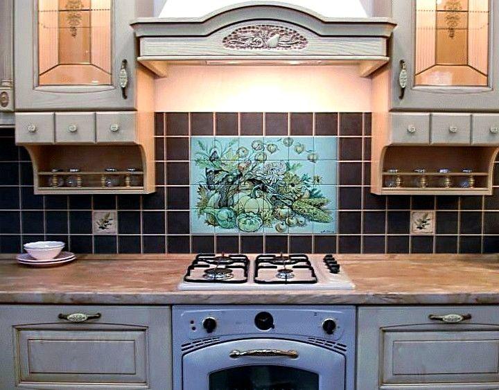 Панно для кухни из плитки (36 фото) керамической на фартук: видео-инструкция по монтажу своими руками, цена, фото