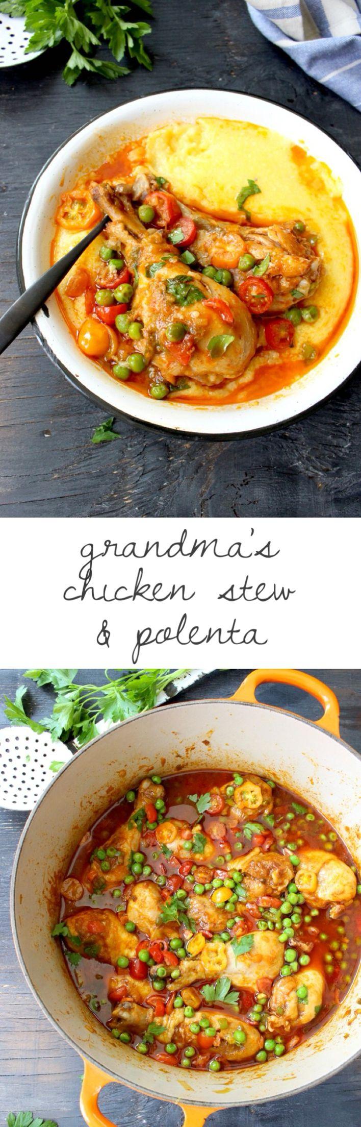 Easy Chicken Stew (Grandma's Recipe for Chicken Stew ) | CiaoFlorentina.com @CiaoFlorentina