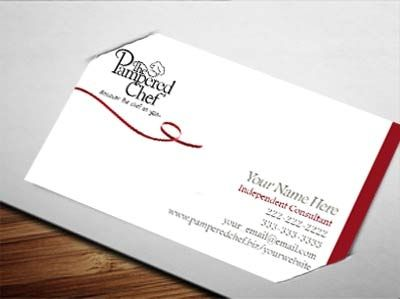 pampered chef business cards