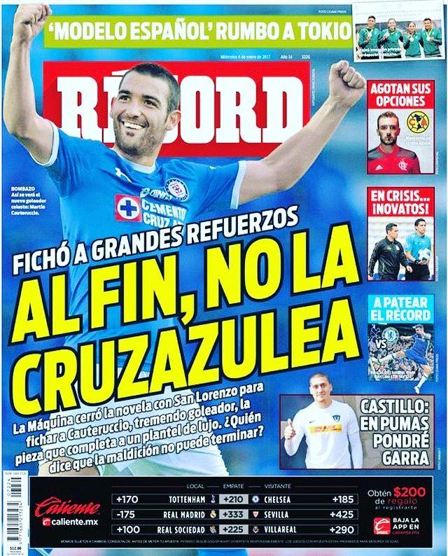 #hoyentuRÉCORD Por fin @Cruz_Azul_FC no la cruzazuleó con sus refuerzos. Listo el plantel de lujo de Jémez #portada