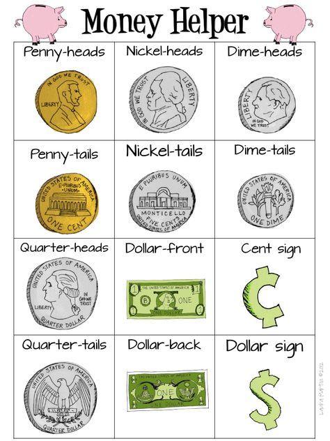 Money Helper.pdf - Printable to help teach kids about US money and money math!