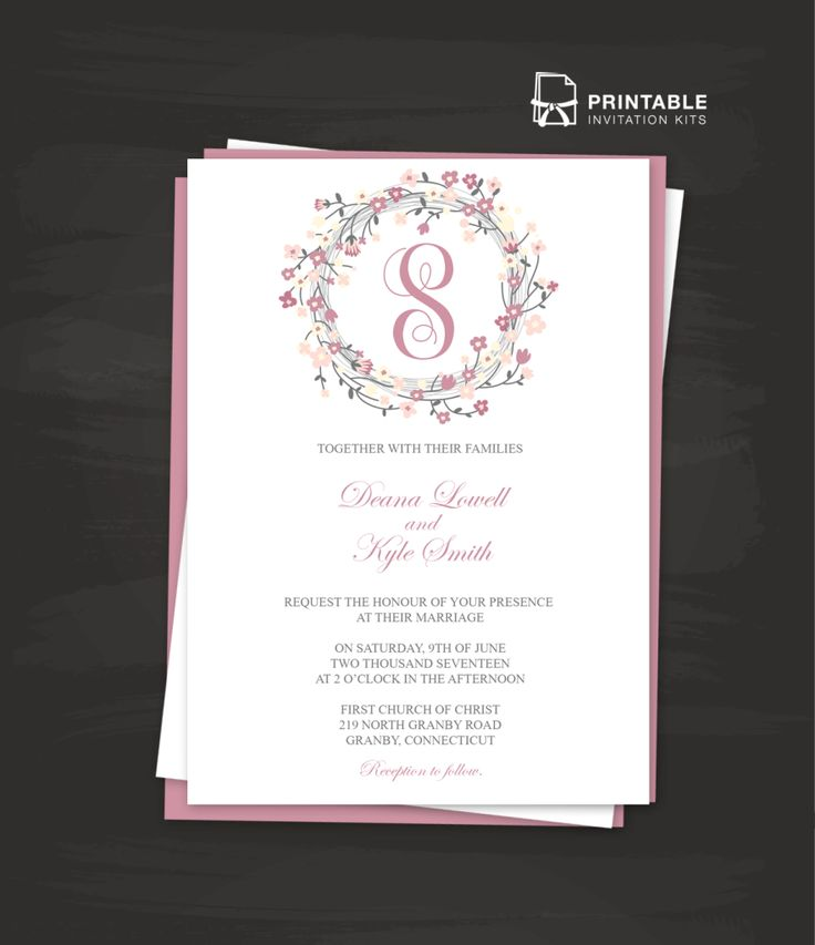 202 Best Images About Wedding Invitation Templates (Free) On
