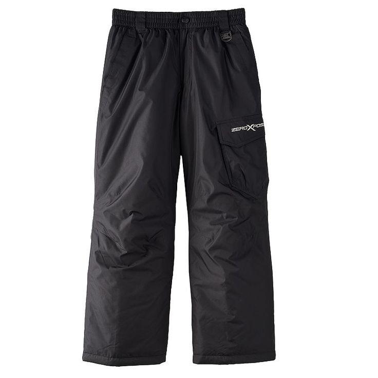 Boys 8-20 ZeroXposur Magneto Snow Pants, Boy's, Size: XL, Black