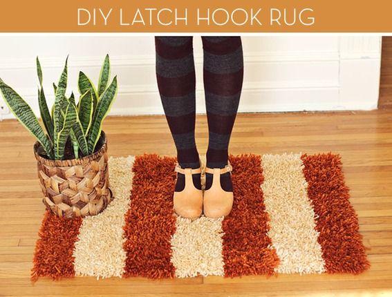 #DIY latch hook rug