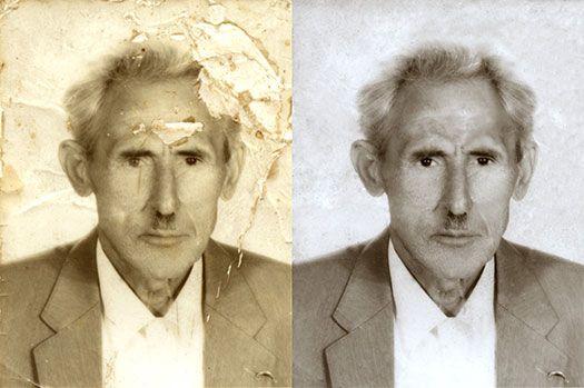 restore old, damaged photos / photoshop tutorial using healing brush