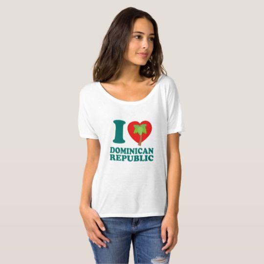 I LOVE Dominican Republic Shirt. #tshirt #tshirtdesign #dominicanrepublic #dominican #caribbean #zazzle