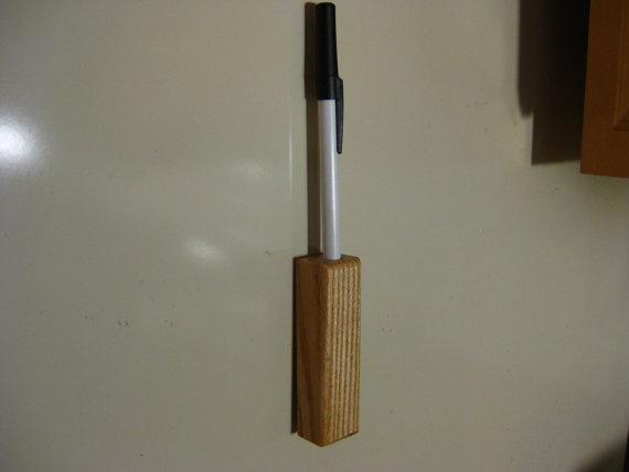 Oak Pen Holder by barrysboxes on Etsy, $3.00