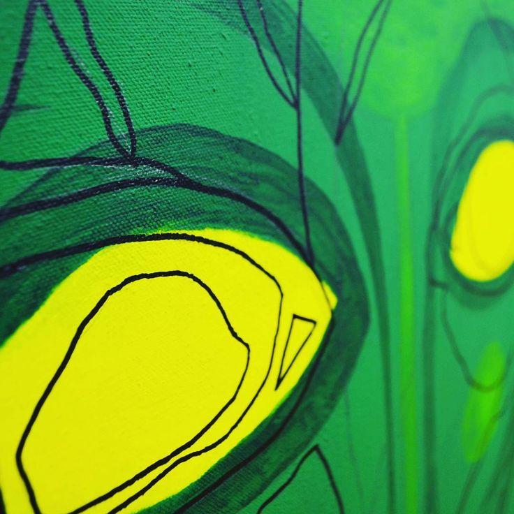 Zoom . . . #fineart #illustration #design #creative #zoomin #acrylicpainting #superflat #permanentmarker #pental  #winsorandnewton #creative #leaf #nature #mask #powerfulart