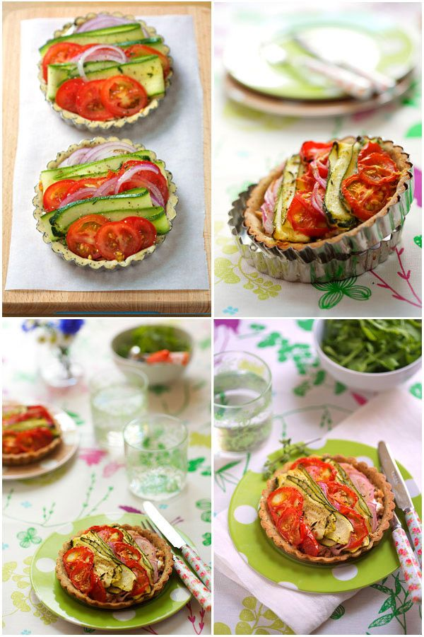 Mustard-Flavored Tuna and Vegetable Tartlets from La Tartine Gourmande. You could make these vegetarian/vegan. Fresh and delicious.: La Tartine, Www Latartinegourmande Com, Mustard Flavored Tuna, Gluten Free, Pies Tarts, Food Items Recipes, Picnic