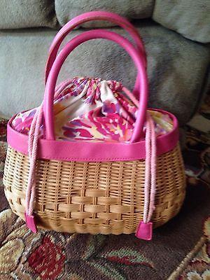 Super Cute Spring Summer Wicker Hand Bag by Bath Body Works | eBay