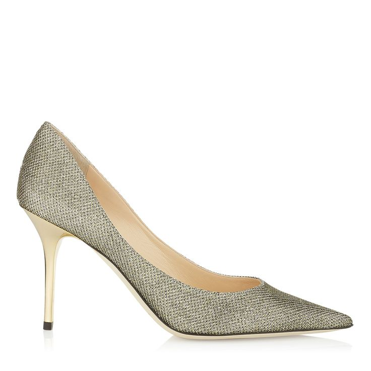 Light Bronze Lamé Glitter Pointy Toe Pumps | Agnes | JIMMY CHOO Shoes