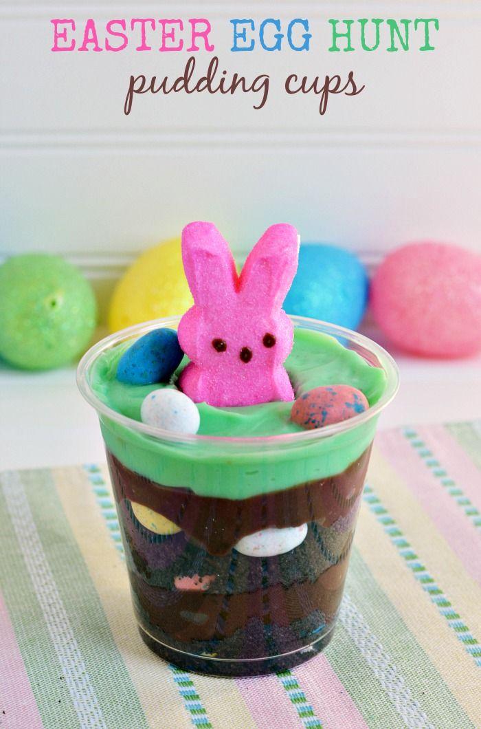 Easter Egg Hunt Pudding Cups Recipe for Kids
