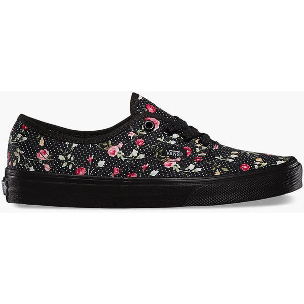 Vans Floral Dots Authentic shoes. The Floral Dots Authentic is a simple lace-up low top with a durable canvas upper, all-over floral print, metal eyelets, Vans…