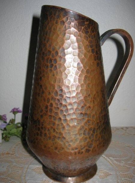 Vintage Mission Arts Hand Hammered Copper Art Deco Mid