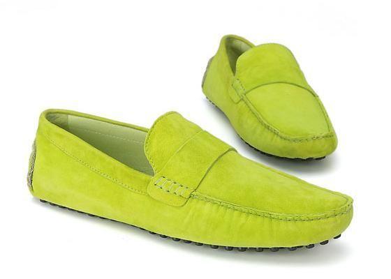 Chaussures Tods homme vert en daim
