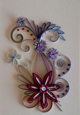 ..: Four Quilling, Red Flowers, Quilling Art, Quilling Cards Flowing, Quilling Flowers, Diy Quilling, Paper Quilling, Paper Crafts, Quilling Cardsflow