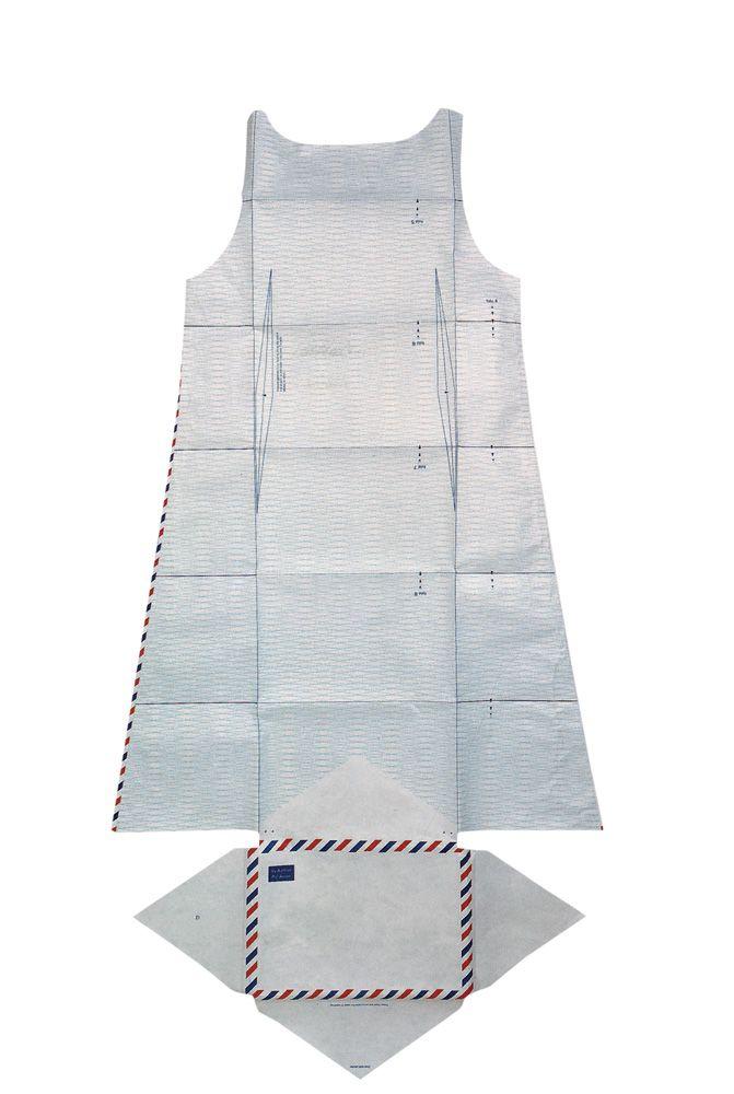 airmail dress in tyvek envelope (1999)  hussein chalayan
