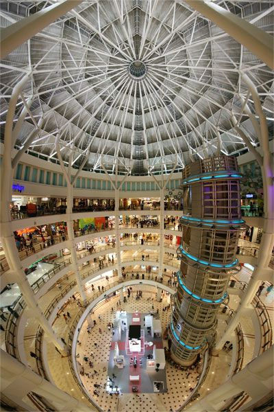 central hall of the KLCC Suria Mall in Kuala Lumpur. MALAYSIA