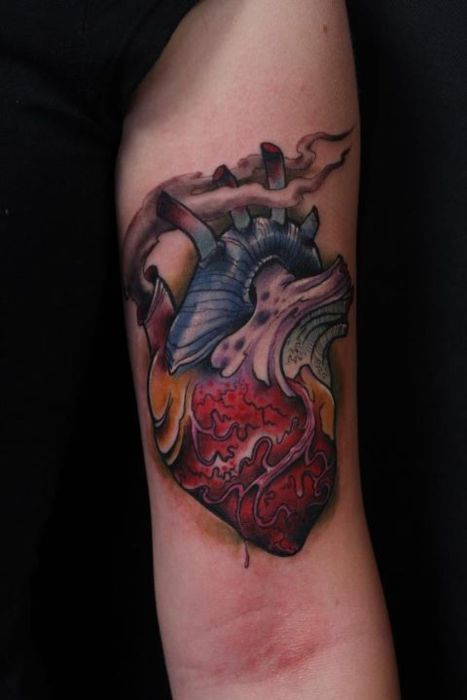 34 besten yellow and white heart tattoos bilder auf for Inkfatuation tattoo shop bakersfield