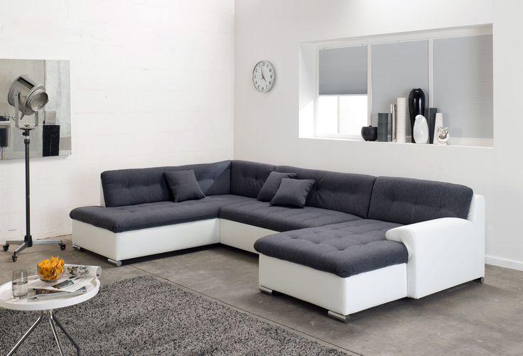 #Wohnlandschaft #Münster mit #Bettfunktion zum #Schnapper . Dieses #Sofa ist #elegant und #stylish zugleich. #ModernesWohnen #Trends2017 #holdirdeinenschnapper