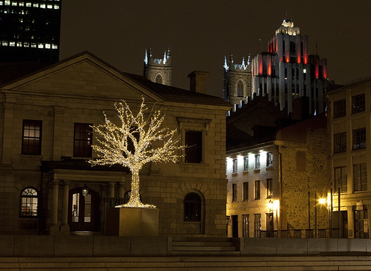 Christmas Tree Pointe-à-Callière Montreal - Photo Eva Blue