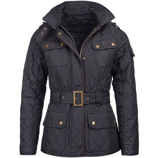 Women's Barbour International Spring Tourer Quilted Jacket - Black (935 DKK) ❤ liked on Polyvore featuring outerwear, jackets, lightweight jackets, studded motorcycle jacket, lightweight motorcycle jacket, barbour international jacket and light weight jacket