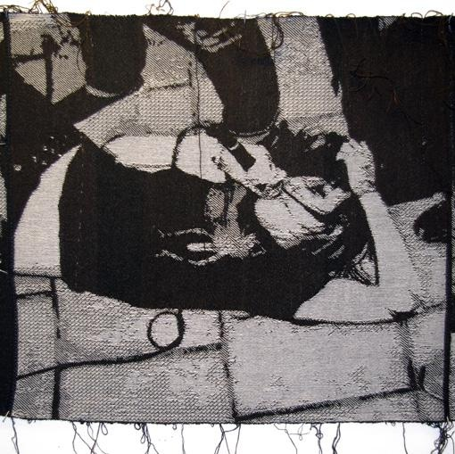 Kill all the boys with the fucked-up noise. vol.2 (detail) woven textile (#aids wolf)
