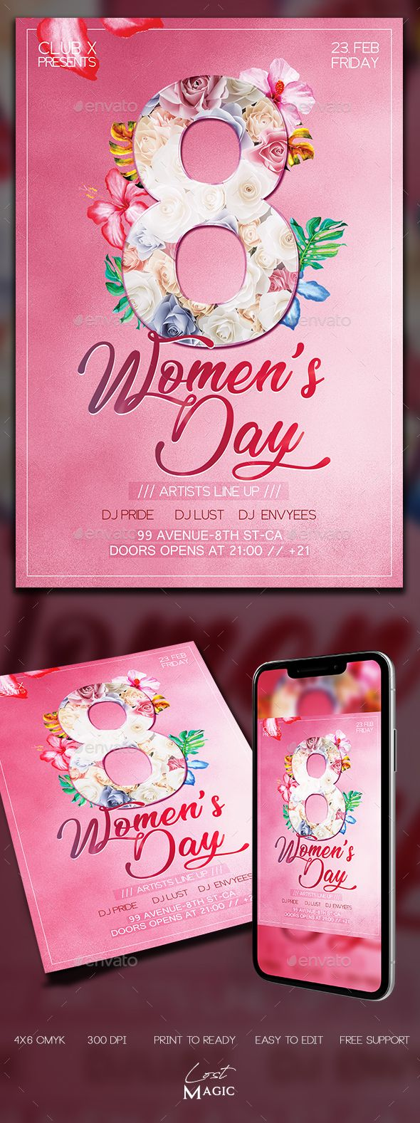 Womens Day Flyer Template PSD